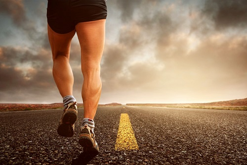 la course à pied sur la route