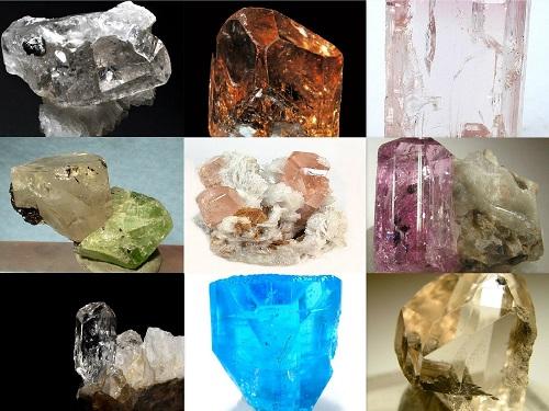 pierre topaze brute de différentes couleurs