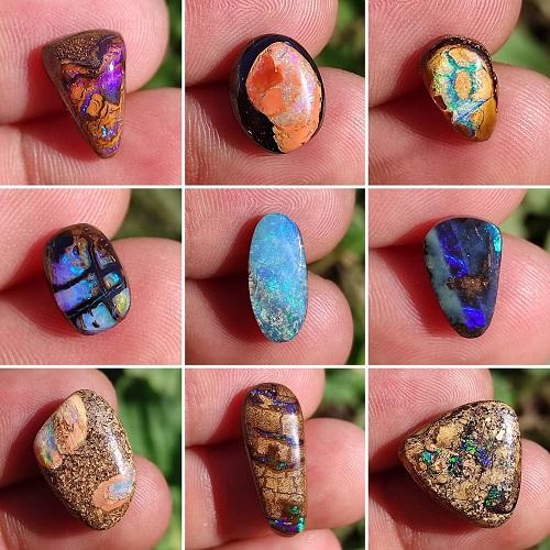 gallerie de 9 images d'opales trouvées un peu partout dans le monde